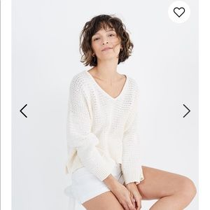 Madewell Breezeaway Pullover Sweater Pearl Ivory M